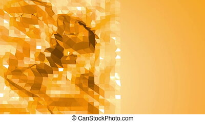 Polygonal mosaic background with vertex, spikes in cartoon modern 3D design. Abstract transforming orange low poly surface as ?omputer background in stylish low poly design. Free space
