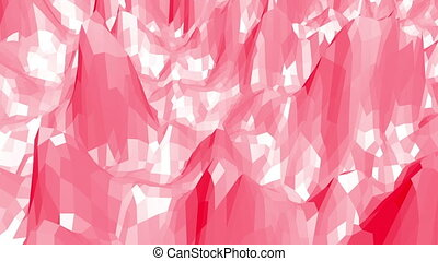 Rosy or pink low poly surface as game landscape. Polygonal...
