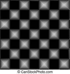 Black and white chessboard, abstract geometric background