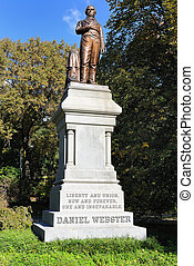 Daniel Webster Statue in Central Park - Monument to Daniel...