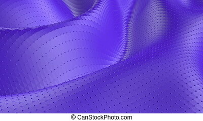 Violet low poly waving surface as mathematical...