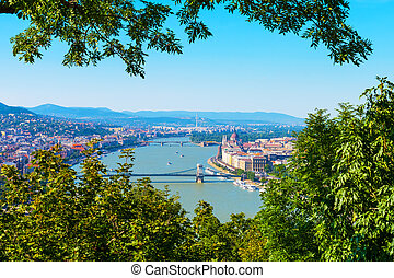Aerial view of Budapest, Hungary - Scenic summer aerial...