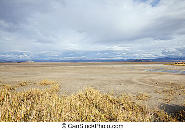 Mojave Dry Lake Storm - Thunderstorm moves in on a Mojave...