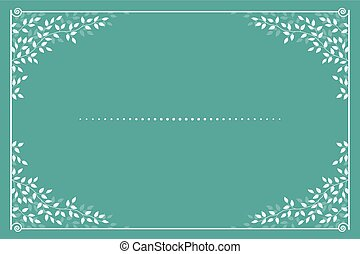 invitation card with branches and leaves
