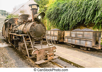 Steam narrow-gauge locomotive. - Steam narrow-gauge...
