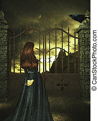 Getting Past The Gatekeeper - Woman standing with a key...