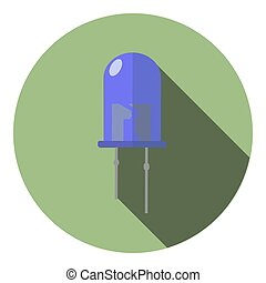 Vector image of a blue light-emitting diode