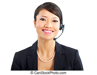 Call Center Operator - Beautiful call center operator with...
