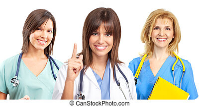 看護婦, 医者