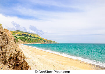 beautiful beach by Bray in Ireland - View on beautiful beach...