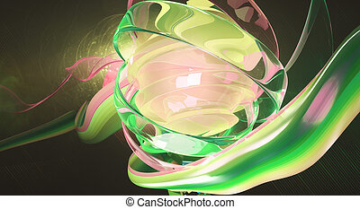 PInkish digital art - Creative digital art. Pinkish green...