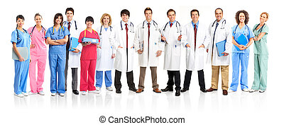 medical people - Smiling medical people with stethoscopes....