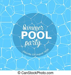 Vector pool party template
