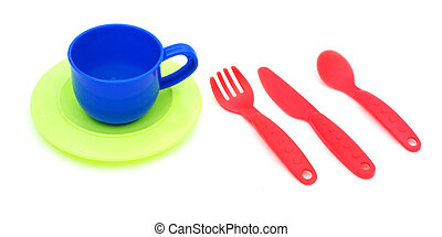 Plastic kitchenware - Plastic cup, spoon, knife anf fork,...