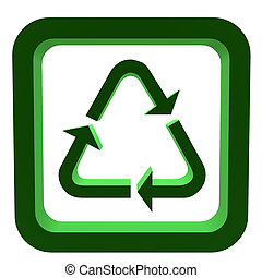 3D Recycle Symbol