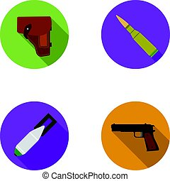 Holster, cartridge, air bomb, pistol. Military and army set...