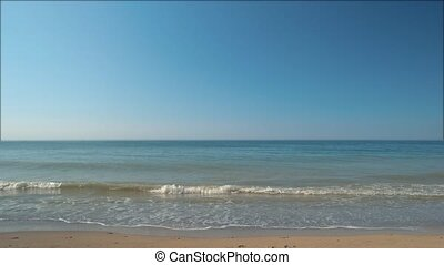 Little piece of paradise. - Sand with sea. Water, cloudless...