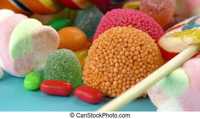 Candy Sweet Jelly Lolly and Delicious Sugar Dessert