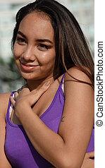 Hispanic Girl In Love