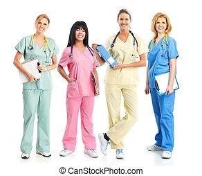 medicos, enfermeras
