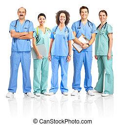 enfermeras, medicos