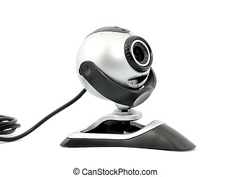 Webcam - Modern webcamera isolated on a white background