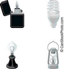 Lighter, economical light bulb, edison lamp, kerosene...