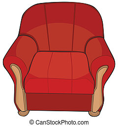 isolated colored armchair
