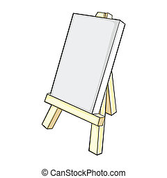 isolated easel - fully editable vector illustration of...