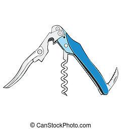 colored cork screw