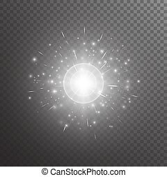 Bokeh background with light flare - Bright background with...