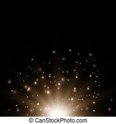 Bokeh background with glittering lights - Bright background...