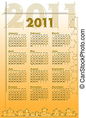 2011 Calendar with houses