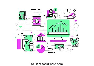 Investment and finanace illustration