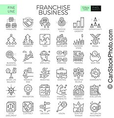 Franchise business icons - Franchise business concept...