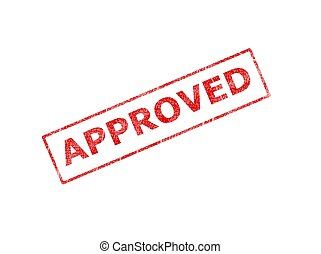 approved - This is a image of red ink stamp