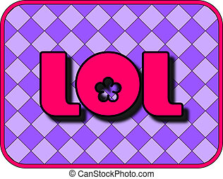 LOL - A fun icon with LOL (Laugh Out Loud).