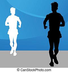 Running Man - An image of a running man.