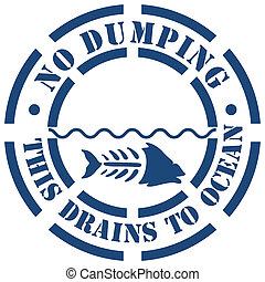 No Dumping Sign - An image of a no dumping sign