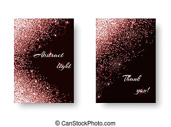 Brilliant background with dazzling lights - Foil background...