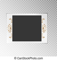 Photo frame with a flower pattern - Festive photo frame with...