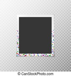 Photo frame with confetti
