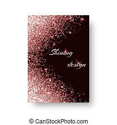 Glimmer background with bright light - Bling background with...
