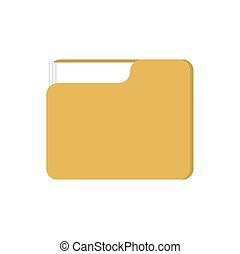 Folder with files isolated. Working documents for card...