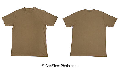 t shirt blank clothing - collection of t shirts on white...