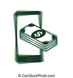 Payment, refill your mobile smart phone,. Vector. Colorful...