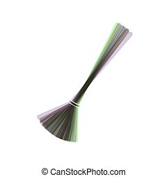 Sweeping broom sign. Vector. Colorful icon shaked with vertical axis at white background. Isolated.