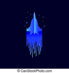 Fighter, jet, f-16 icon vector image. Can also be used for...