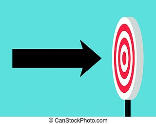 Arrow directly in target - Arrow flying to darts target on...