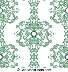 Vintage Baroque damask floral pattern. Vector decor...